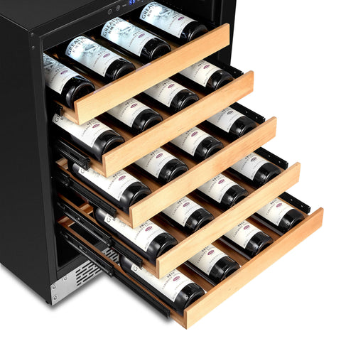 "24"" Built-In Stainless Steel 54 Bottle Wine Refrigerator Cooler"
