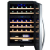 Image of 29 Bottle Cascina Series Dual Zone Wine Cooler - Stainless Steel