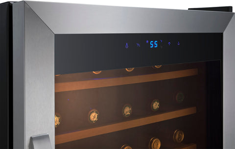 34-Bottle Cascina Series Wine Cooler - Stainless Steel
