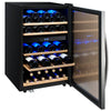 Image of 44-Bottle Cascina Series Wine Cooler - Stainless Steel