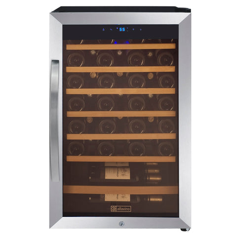 48-Bottle Cascina Series Wine Cooler - Stainless Steel
