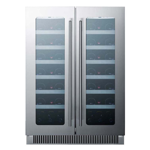 42-Bottle Dual Zone Glass Double Door Outdoor Wine Refrigerator