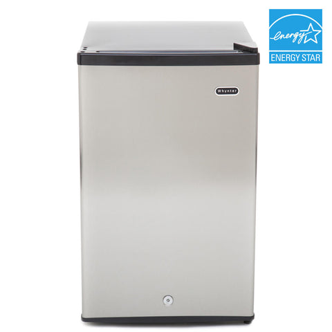 2.1 cu. ft. Stainless Steel Upright Freezer with Lock