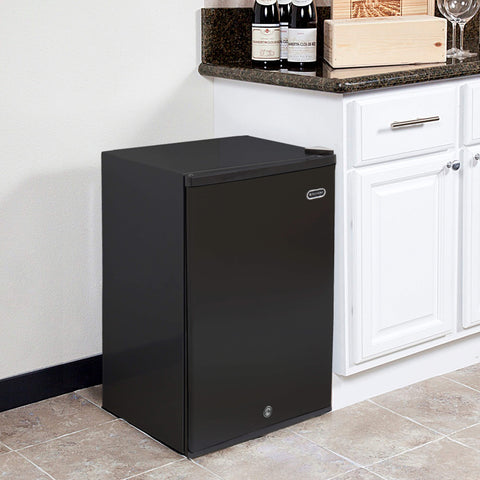 3.0 cu. ft. Upright Freezer with Lock - Black