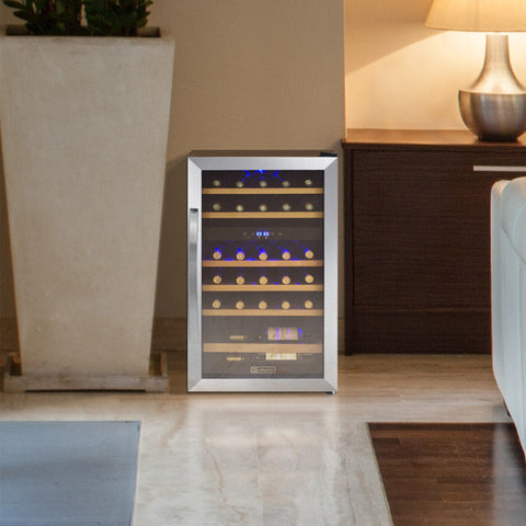 29 Bottle Cascina Series Dual Zone Wine Cooler - Stainless Steel