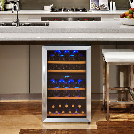 44-Bottle Cascina Series Wine Cooler - Stainless Steel
