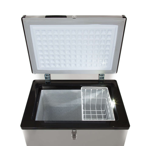 95 Quart Portable Wheeled Freezer with Door Alert and 12v Option