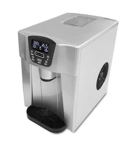 Countertop Direct Connection Ice Maker and Water Dispenser - Silver