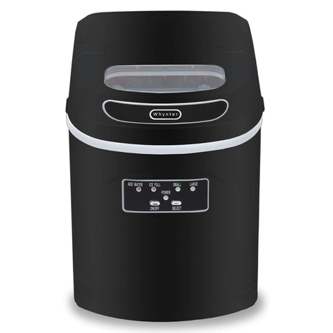 Compact Portable Ice Maker 27 lb capacity - Black