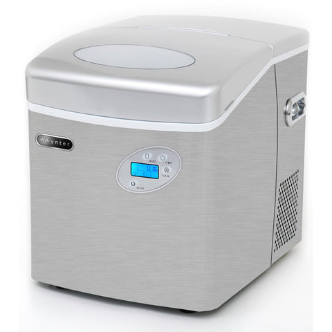 Portable Ice Maker 49 lb capacity - Stainless Steel