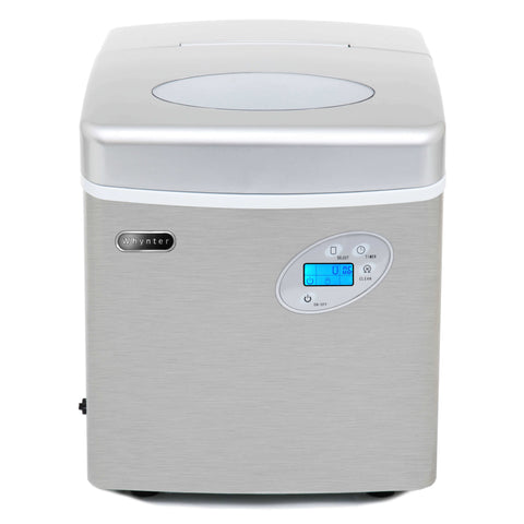 Portable Ice Maker with 49lb Capacity Stainless Steel with Water Connection