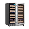 Image of 46-Bottle Dual Zone Stainless Steel Wine Refrigerator