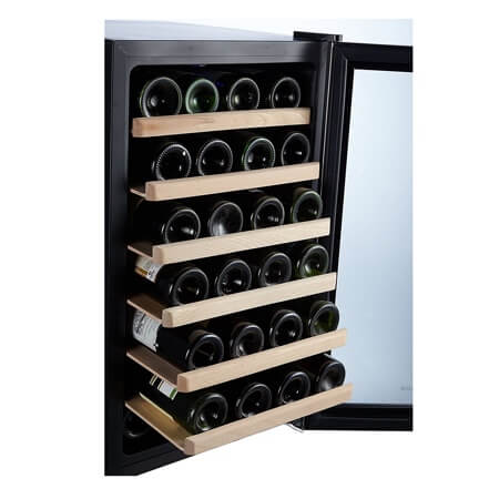 28-Bottle 17 Inch Freestanding Single Zone Wine Refrigerator