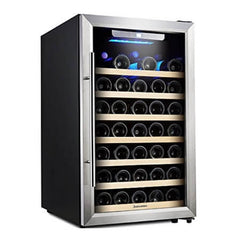 50-Bottle 20 Inch Freestanding Single Zone Wine Refrigerator