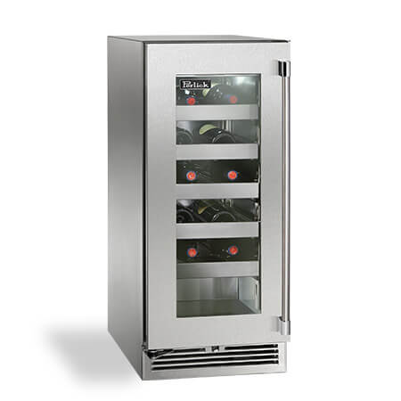 20-Bottle 15 Inch Stainless Steel Built In Wine Refrigerator