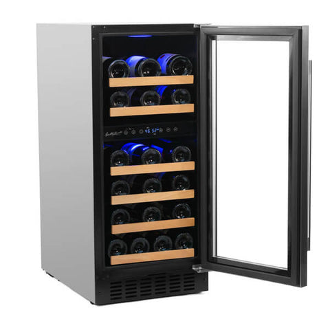32-Bottle Dual Zone Wine Refrigerator