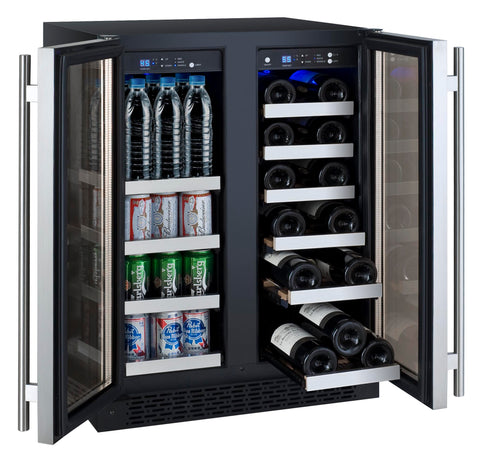 FlexCount Series Two Door Wine Refrigerator/Beverage Center - Stainless