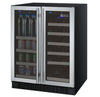 Image of FlexCount Series Two Door Wine Refrigerator/Beverage Center - Stainless