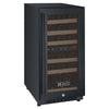 Image of 30-Bottle FlexCount Series Dual Zone Wine Refrigerator - Black
