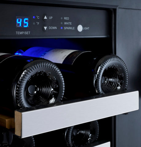 36-Bottle FlexCount Series Dual Zone Wine Refrigerator - Stainless