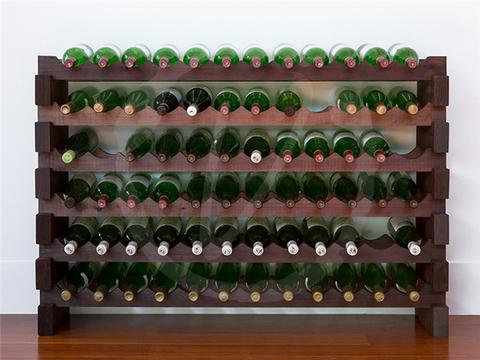 72-Bottle 6 x 12 Bottle Modular Wine Rack