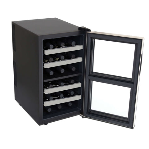 18 Bottle Dual Zone Thermoelectric Wine Cooler