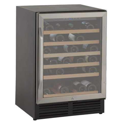 50-Bottle Single Zone Wine Cooler - Black/Stainless Steel
