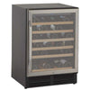 Image of 50-Bottle Single Zone Wine Cooler - Black/Stainless Steel