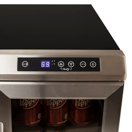 19-Bottle Side-by-Side Wine and Beverage Cooler - Stainless Steel/Black