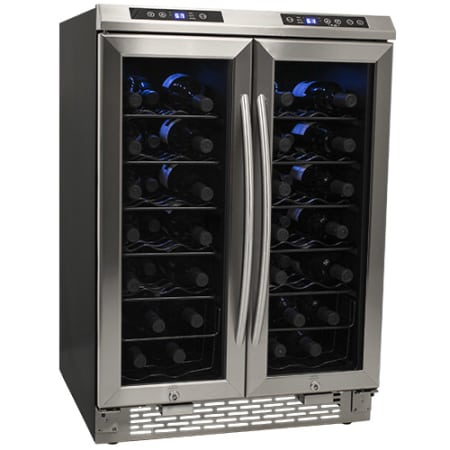38-Bottle Dual Zone Wine Cooler - Stainless Steel