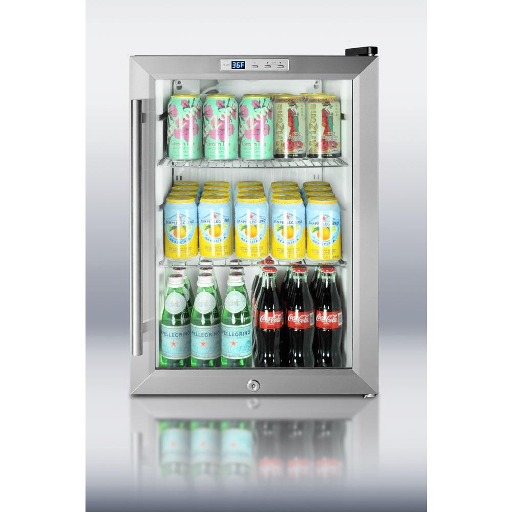 Compact Commercial Glass Door Beverage Cooler Wine Storage Depot