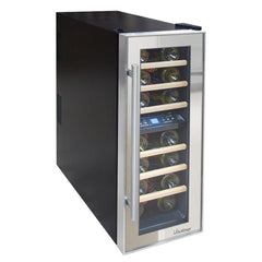 21-Bottle Dual-Zone Thermoelectric Mirrored Wine Cooler