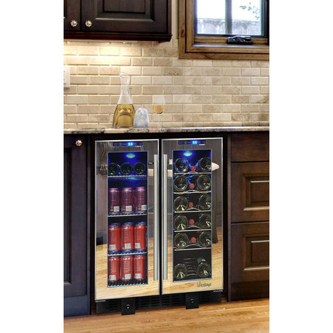 19-Bottle Touch Screen Mirrored Wine & Beverage Cooler