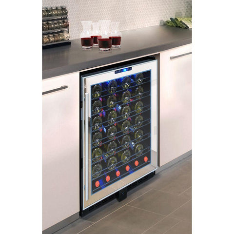 54-Bottle Touch Screen Mirrored Wine Cooler