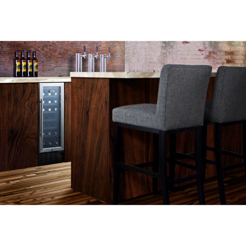 21-Bottle Slim Built-in Undercounter Wine Cellar