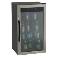 "Drinks Chiller - 18.7"" - 3 cu ft - Black/Stainless Steel"