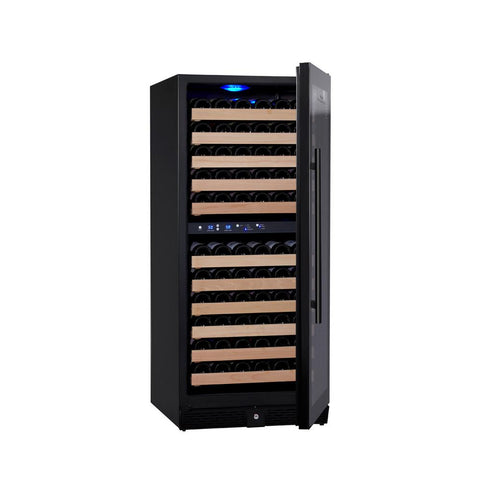 106-Bottle Dual Zone Black Wine Refrigerator