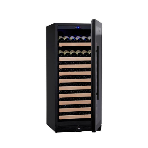 100-Bottle Single Zone Black Wine Refrigerator