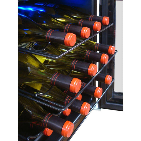 16-Bottle Single Zone Touch Screen Mirrored Thermoelectric Wine Cooler