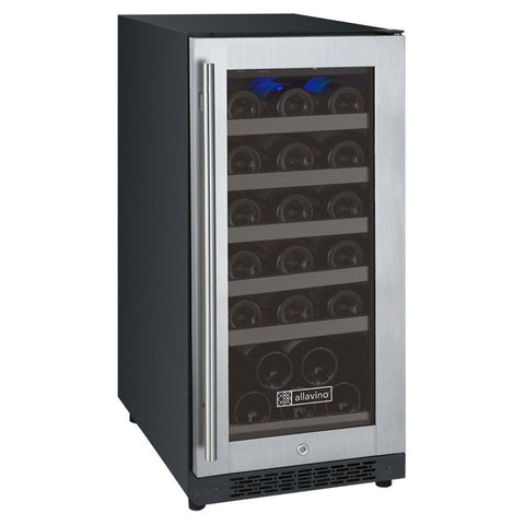 30 Bottle FlexCount Series Single Zone Wine Refrigerator - Stainless