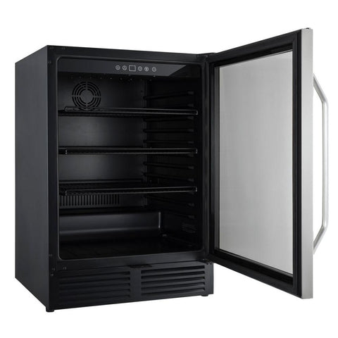 "Drinks Chiller - 23.5"" - 5 cu ft - Black/Stainless Steel"