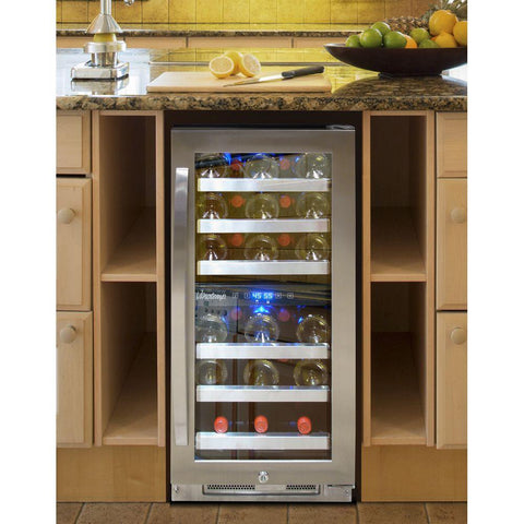 28-Bottle Dual-Zone Connoisseur Series Wine Cooler
