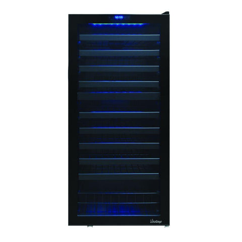 110 Bottle Dual-Zone Touch Screen Wine Cooler