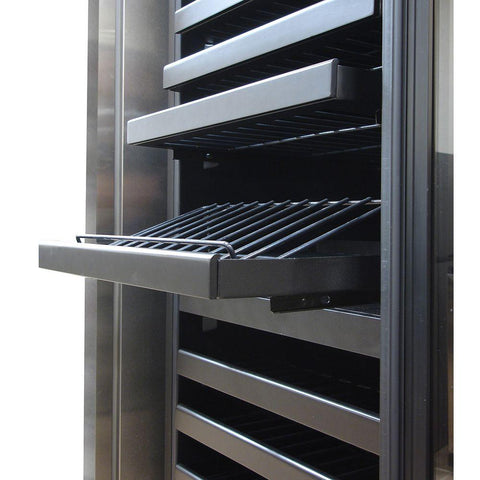 142-Bottle Dual-Zone Wine Cooler with Seamless Glass Door