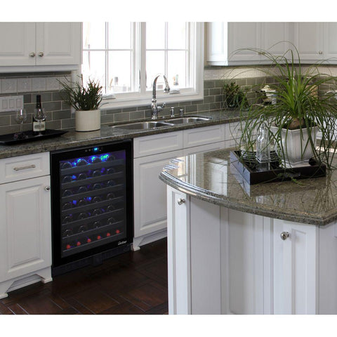 54 Bottle Single-Zone Touch Screen Wine Cooler