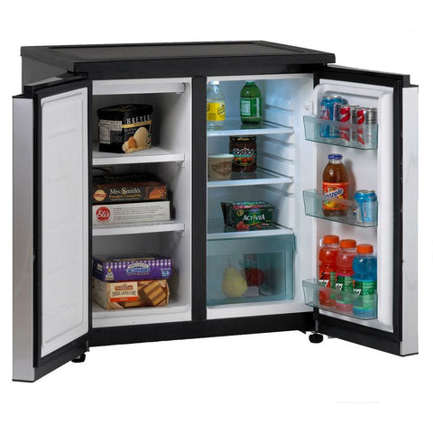 "31"" 5.5 cu. ft. Stainless Steel Finish Undercounter Side-by-Side Refrigerator"