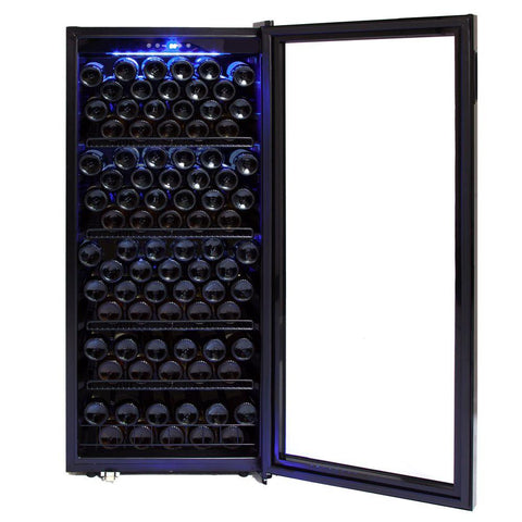 124 Bottle Freestanding Wine Cabinet Refrigerator