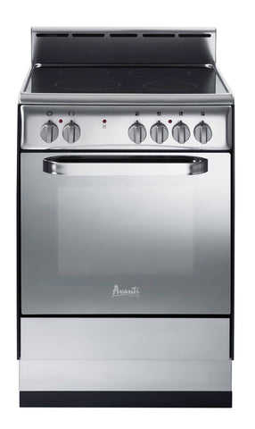 "24"" Electric Range Black / Stainless"