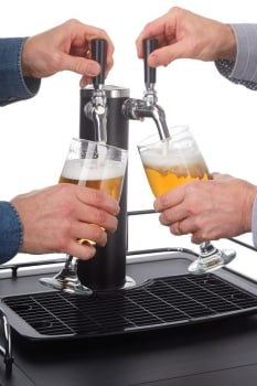 "21"" Dual Tap Beer Dispenser with 5.4 cu. ft. Capacity"