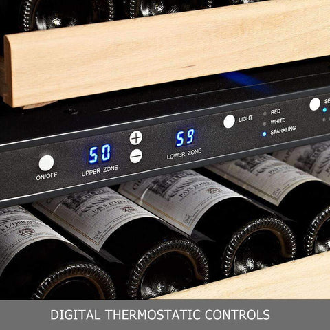 46-Bottle Dual Zone Black Wine Refrigerator